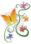 arte-di-clip-dei-fiori-di-farfalla(3)