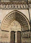 Portale della Vergine della Cattedrale di Notre Dame a Parigi