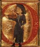 Un trovatore che suona la sua viella